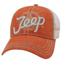 Jeep Script Trucker Cap | Hats & Caps | Jeep Apparel | My Jeep Accessories