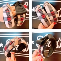 BURBERRY Popular Women Bowknot Hair Band Head Hoop Headband Accessories