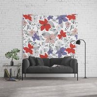 Avery White Wall Tapestry by Heather Dutton