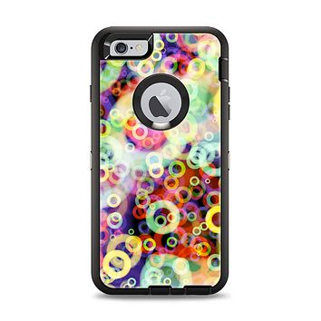 The Rainbow Colored Unfocused Light Circles Apple iPhone 6 Plus Otterbox Defender Case Skin Set