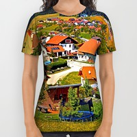 The village and the valley All Over Print Shirt by Patrick Jobst   Society6