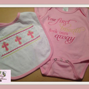 Girl First Recognition Onsie or Bib