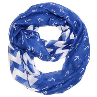 Anchor Chevron Infinity- Blue