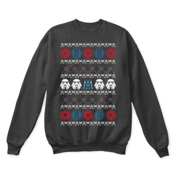 AUGUAU The Christmas Side Of The Force Stormtrooper Star Wars Ugly Sweater