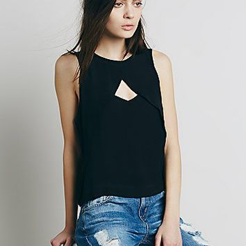 Free People Womens Tempt Me Triangle Top