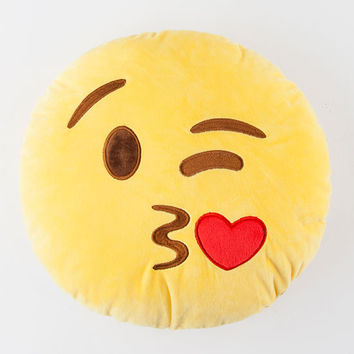 Love And Kisses Double Sided Emoji Pillow | Lighting & Decor