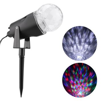 Excelvan Outdoor LED Projector Light Kaleidoscope Rotating Lawn Lamp Waterproof Lights 2 Colors Switchable Party Decorations