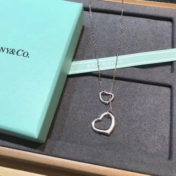 """Tiffany"" New Heart Ring Necklace"