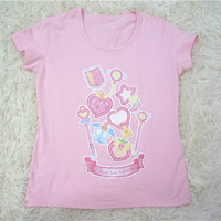 "PLUS SIZE CUSTOM MADE""Fight Like a Girl ""Fetsu Design Custom Tailor Made Cotton T-shirt Top Free Ship SP140816 from Plus Cutie"