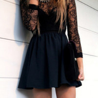 HOT LACE CUTE SEXY DRESS