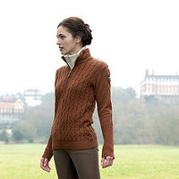 Gersemi Zita Half Zip Cable Knit Sweater