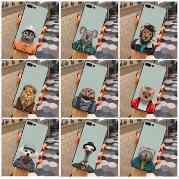 MaiYaCa Animal portrait koala lion owl hedgehog Protective Phone Case For iphone X XSMax 8 8plus 7 7plus 6s 6Splus 6plus 5 5s SE