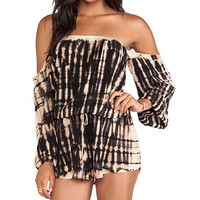 Blue Life Life's A Beach Romper in Black