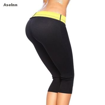 Aselnn Hot Sale Super Stretch Women Hot Shapers Control Pants Female Pants Neoprene Slimming Body Shaper  Pants Women