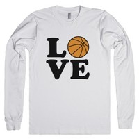 Love Basketball-Unisex White T-Shirt