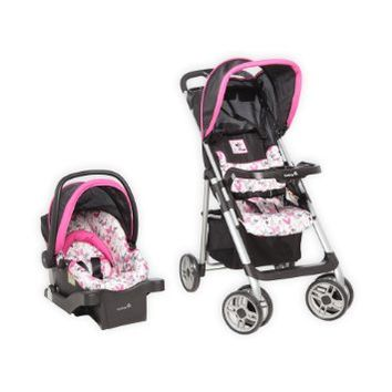 Disney Baby Stroller And Travel System Gear Bundle Collection With Stroller,Car Seat, Playard Playpen With Bassinet And Diaper Changer,Musical Swing, And Diaper Bag (Minnie Dot)