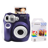 Polaroid 300 Instant Camera - Purple (PIC-300L) with 10 Pack of Film