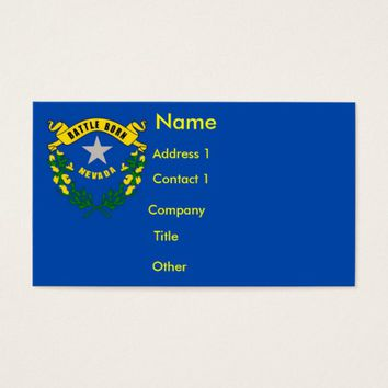 Business Card with Flag of Nevada U.S.A.