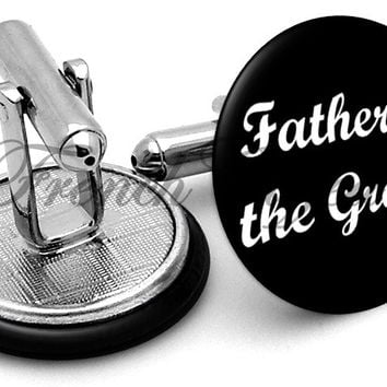 Design #6 Father Groom Wedding Cufflinks