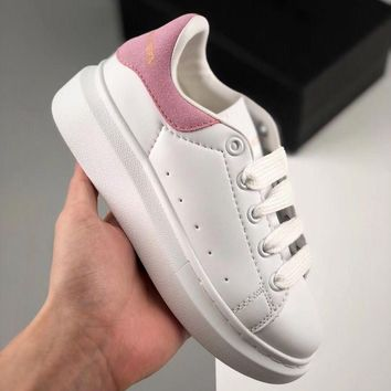 Alexander McQueen White Pink Toddler Kid Shoes Child Sneakers - Best Deal Online