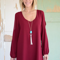 Alessandra Dress- Garnet