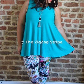 Jade Sleeveless Flare Top