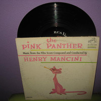 HOLIDAY SALE Vinyl Record Album The Pink Panther Original Soundtrack LP 1963 Henry Mancini Peter Sellers Classic