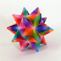 Rainbow Origami Star Ornament by CreativeLifeByEmily