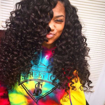 Burmese Virgin Hair Curly: Human Hair Bundles With Ear To Ear Closure