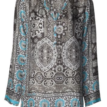 Johnny Was Printed V-Neck Tunic