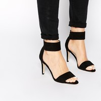 Karen Millen Ankle Cuff Black Sandals