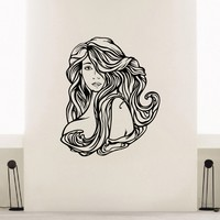Wall Decal Vinyl Sticker Beauty Girl Hair Salon Spa Decor Sb491