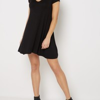 Black Keyhole Swing Dress | Casual Dresses | rue21