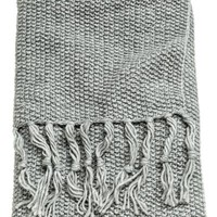 Moss-knit Throw - Gray - | H&M US