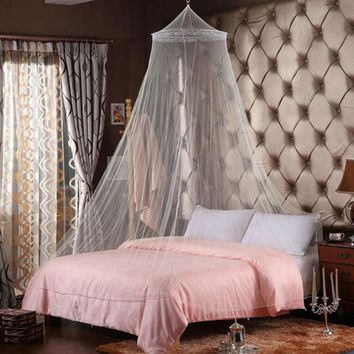 Polyester Mosquito Net, Elegant Round Lace Insect Bed Canopy, Netting Curtains
