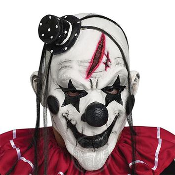Halloween Scary Devil Clown Mask Adult Men Latex Terror Ghost Scary Mystery Mask Cosplay Costume Full Face Demon Clown Masks New