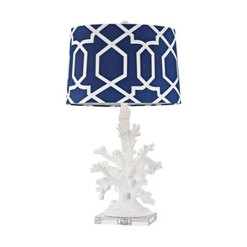 D2934 Trunk Bay 1 Light Table Lamp In Gloss White - Free Shipping!