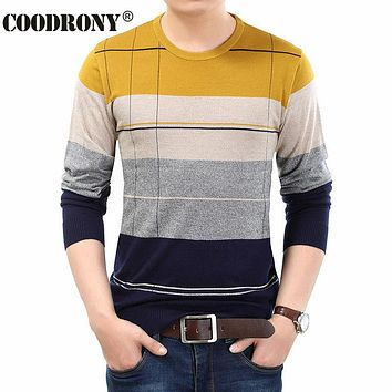Free Shipping Autumn Winter New Cashmere Wool Sweater Men Long Sleeve O-Neck Pullover Men Fashion Striped Pull Homme XXXXL 66154