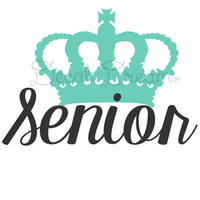 Senior Crown Vinyl Decal Car Laptop Phone Notebook Senior Class of 2015 2016 2017 2018 College Sorority Window Cute Girly Senior Pride Crown