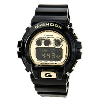Casio GDX6900FB-1 Men's G-Shock Gold Tone Digital Dial Black Resin Strap Alarm Dive Watch