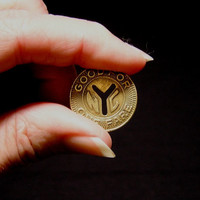 1970s or Earlier Brass Token from New York City Transit Authority, Cut Out Y, ~~by Victorian Wardrobe