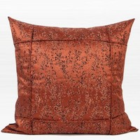 """Red Brown Abstract Pattern Frame Jacquard Pillow 22""""X22"""""""