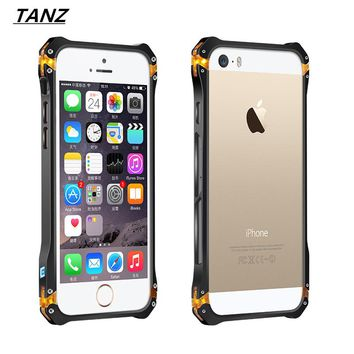 TANZ Iron Man For Apple iphone SE 5 5S 6 6S Phone Case metal frame bumper sector6 i6 4.7 Aluminum + PC Protective shell