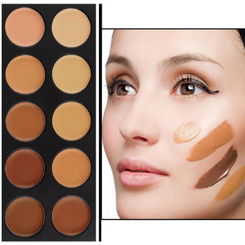 New Professional Makeup Concealer Palette 10 Color Make Up Cream Camouflage Brand Contouring Kit