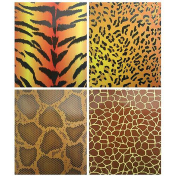 Two Pocket Folders Animal Skin Printed