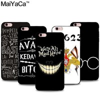 MaiYaCa Unique Word Bitch and BASTILLE Quotes Design Black Soft TPU Phone Case Accessories Cover For iphone 5S  6 6plus 7 7plus