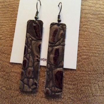 Fde1304 Handmade Leather Earrings