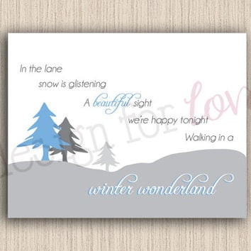 Winter Wonderland - Printable File - Winter Decor