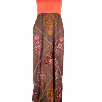 Judith March Embroidery Maxi Dress