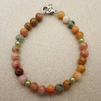 6mm Jasper gemstone bracelet